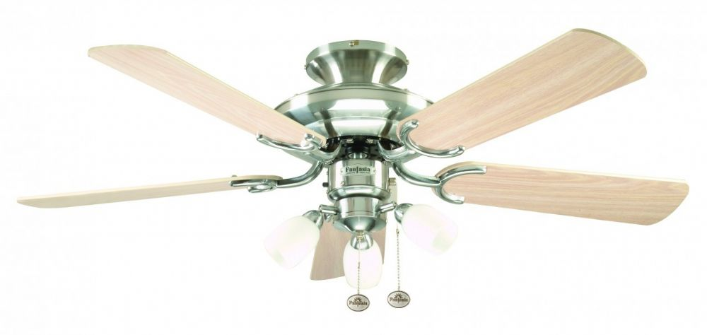 "Fantasia Mayfair Combi 42"" Stainless Steel Ceiling Fan +  Light 111818"